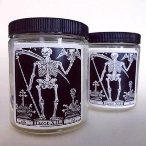 Tarot Card Candle